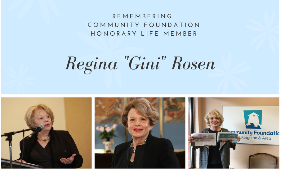 The passing of Regina (Gini) Rosen, Honorary Life Member