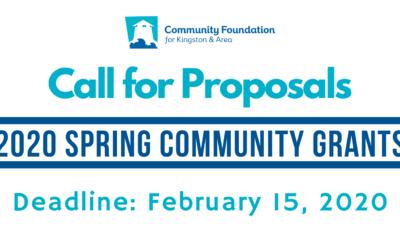 Spring 2020 Community Grants Program