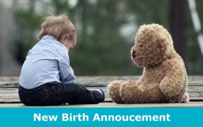 New Birth Annoucement